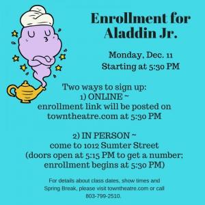 Enrollment for Aladdin Jr.